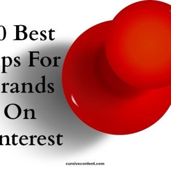 20 best tips for brands on Pinterest