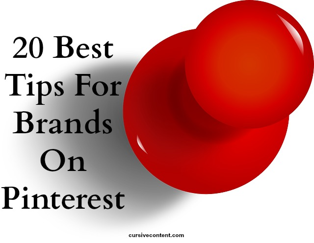 20 best tips for brands on Pinterest