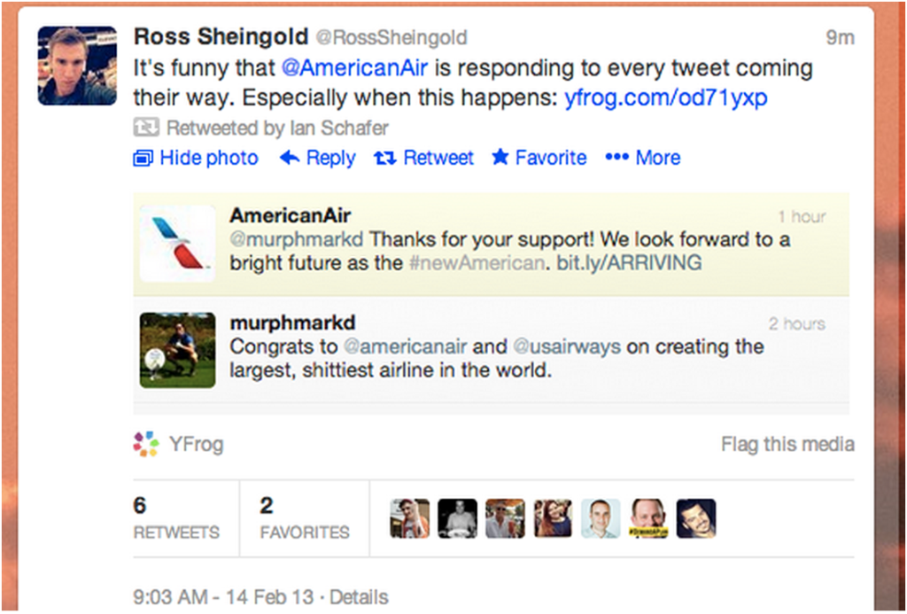 social media fail american airlines
