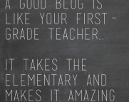 good blog teaches