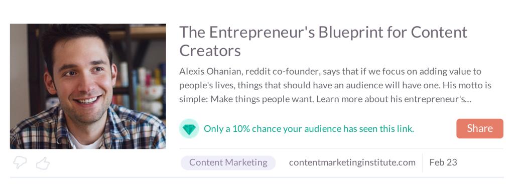 new klout hidden gem feature content marketing