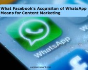 facebook whatsapp content marketing chat apps