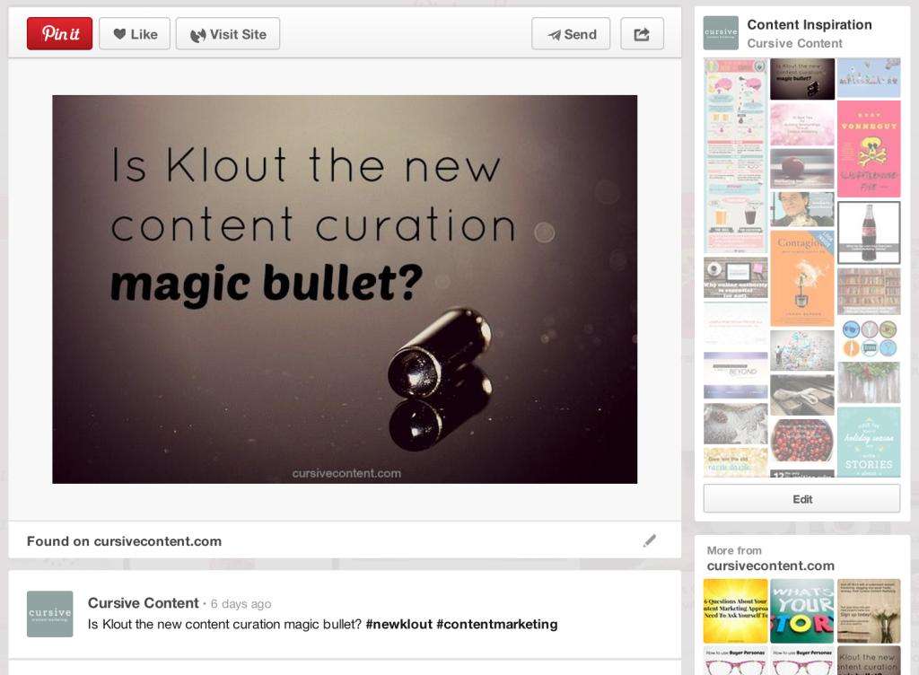 make blog posts pinnable cursive content pinterest