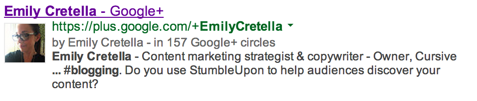 emily cretella google authorship