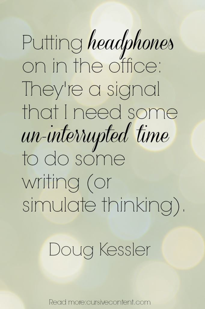 doug kessler content marketing quote cursive