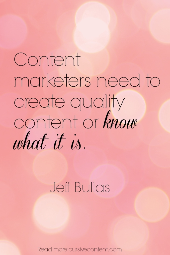 jeff bullas content marketing quote cursive