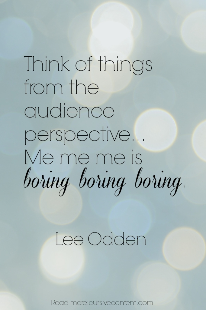 lee odden content marketing quote cursive