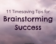11 timesaving tips for brainstorming success