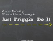 content marketing strategy just do it cursive content