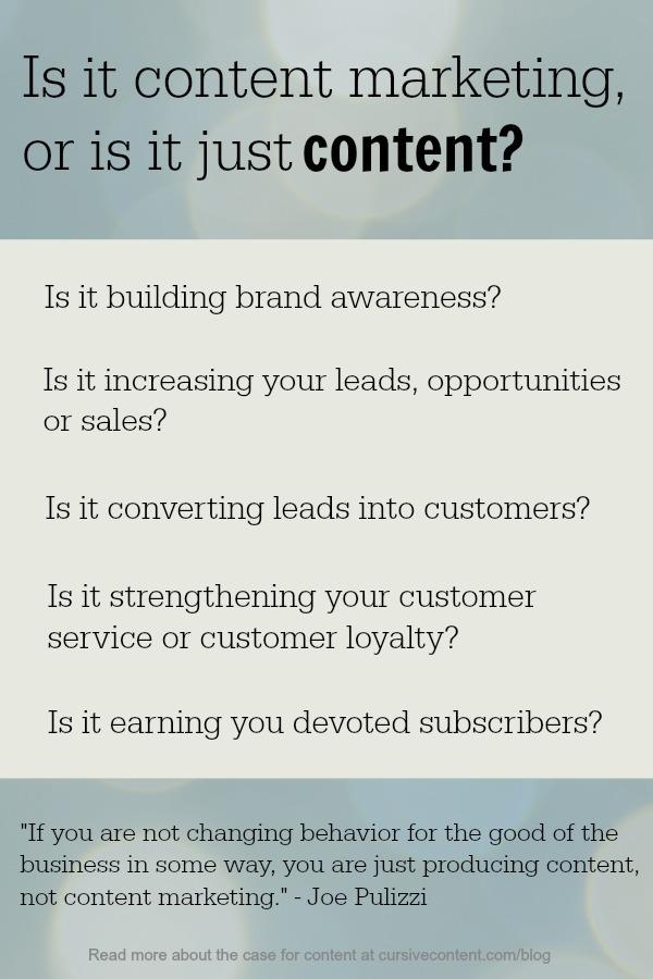 content vs content marketing
