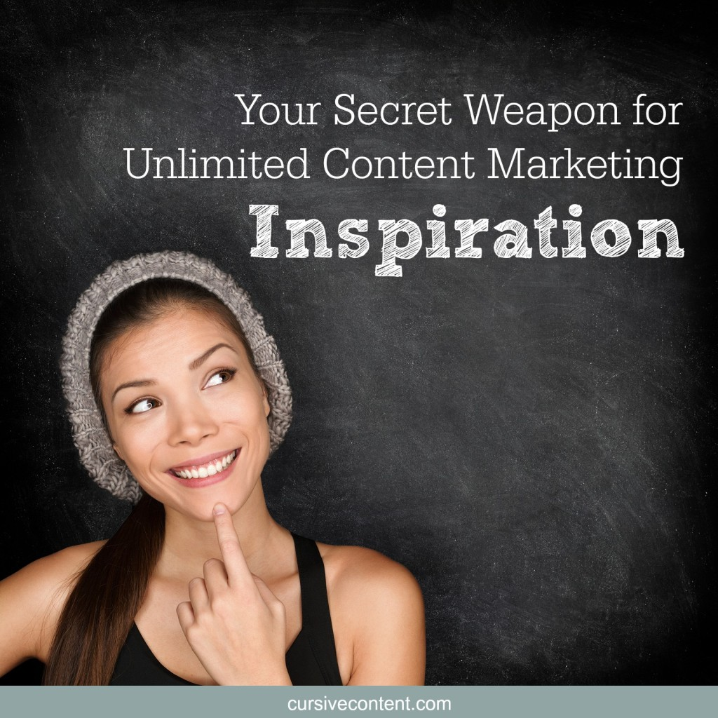 secret weapon unlimited content marketing inspiration