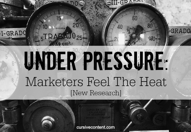under pressure-marketers feel the heat new research cursive content marketing