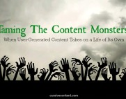 taming the content monsters when user generated content takes on a life of its own cursive content marketing