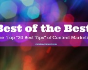 the top 20 best tips of content marketing