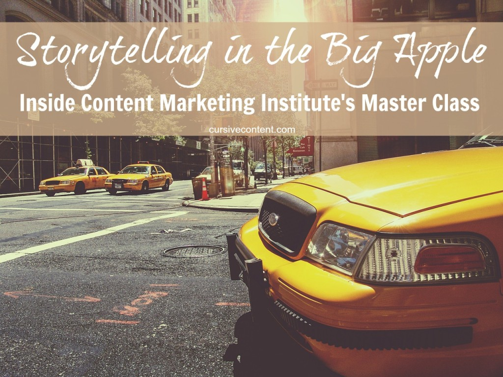 inside content marketing institute's master class nyc