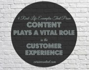 Content Plays A Vital Role in the Customer Experience