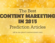 the best content marketing 2015 prediction articles