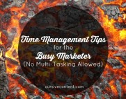 Time Management Tips for the Busy Marketer