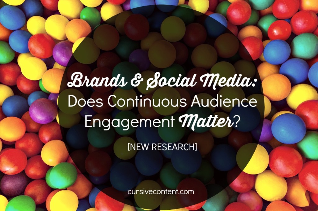 brand and social media - does continuous audience engagement matter