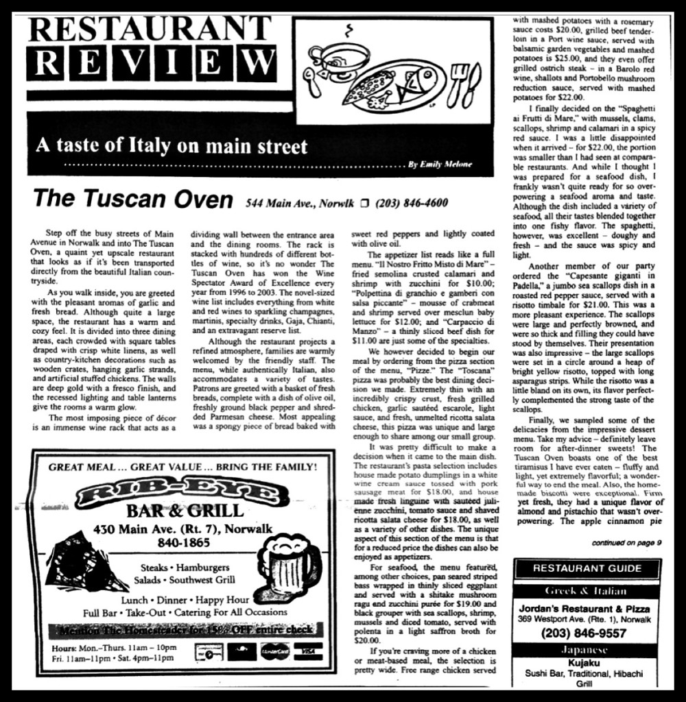 emily cretella restaurant review
