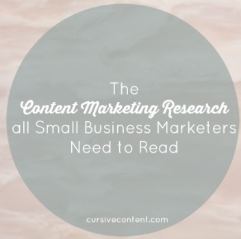 The Content Marketing Research All Small Business Marketers Need to Read