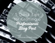 5 Quick Tips for Crafting a Professional Blog Post