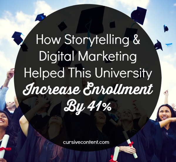 How Storytelling & Digital Marketing Helped This University Increase Admissions By 41%