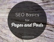 SEO Basics for Pages and Posts