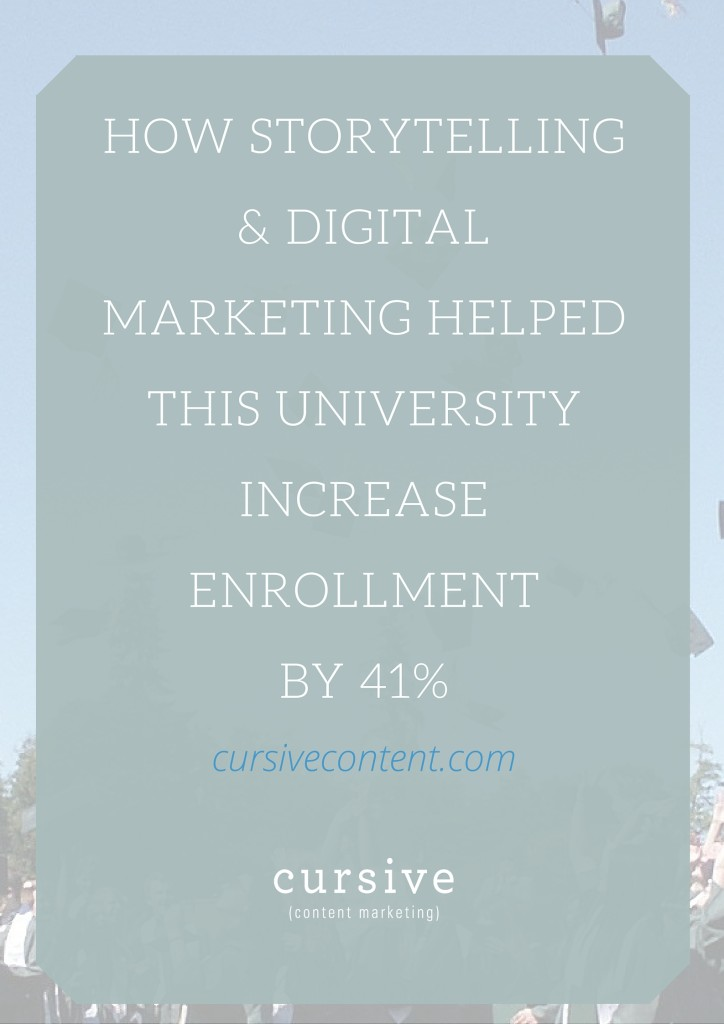 How Storytelling & Digital Marketing Helped This University Increase Enrollment By 41%