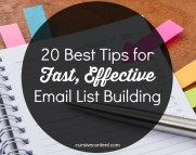 20 Best Tips for Fast, Effective Email List Building