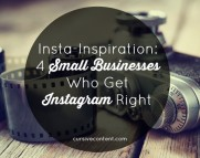 Insta-Inspiration: 4 Small Businesses Who Get Instagram Right