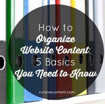 How to Organize Website Content: 5 Basics You Need to Know