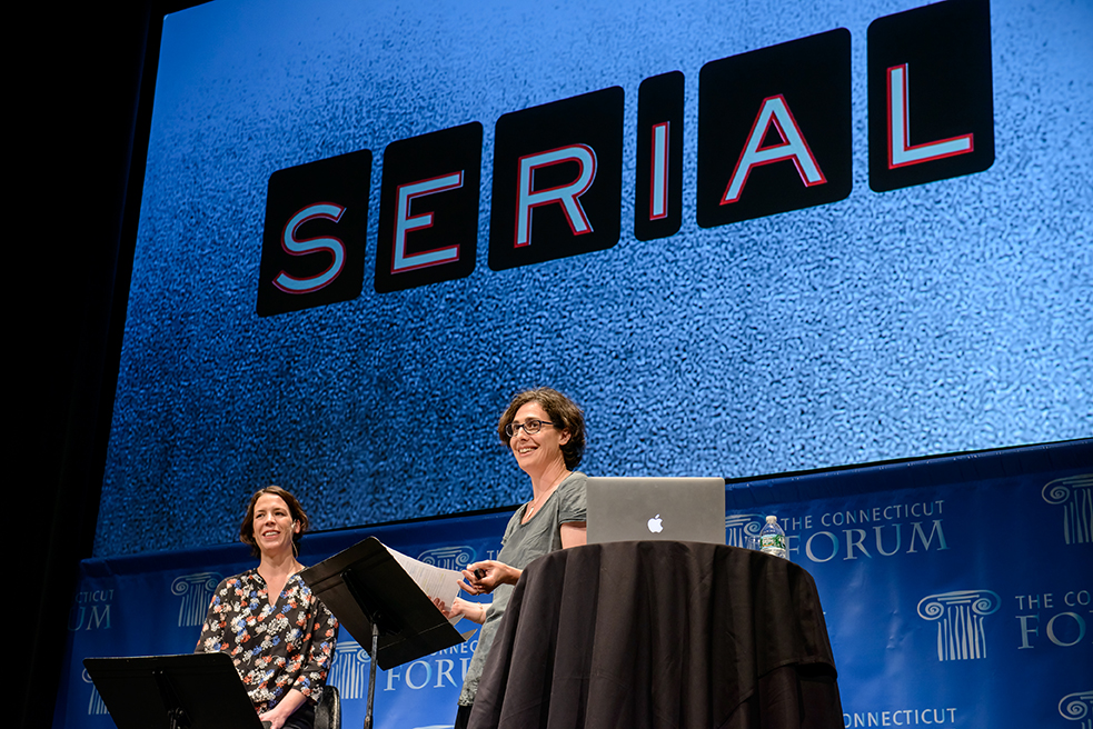 The Connecticut Forum: Serial. Photo: Sarah Koenig, Julie Snyder