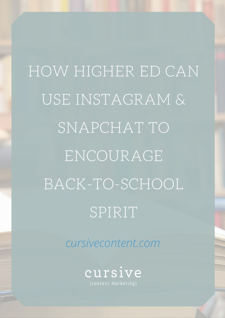 The back-to-school season gives higher ed marketers the amazing opportunity to make back to school a truly social event. | How Higher Education Can Use Instagram and Snapchat to Encourage Back to School Spirit