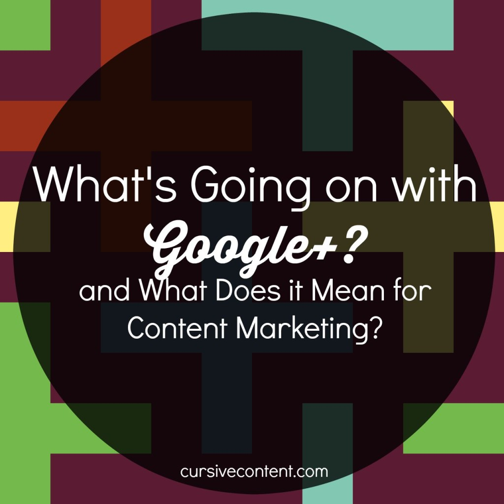 What's Going on with Google+, and What Does it Mean for Content Marketing?
