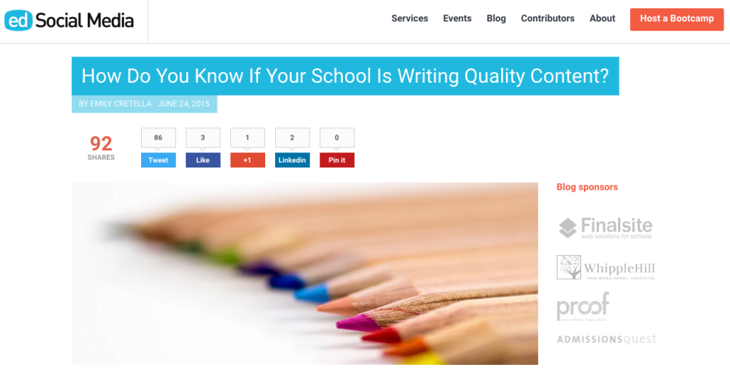How Do You Know If Your School Is Writing Quality Content?
