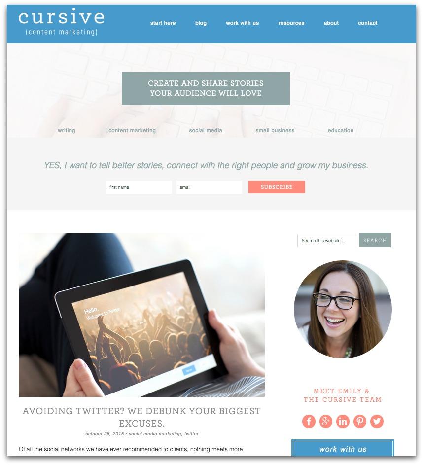 Cursive Content Marketing blog