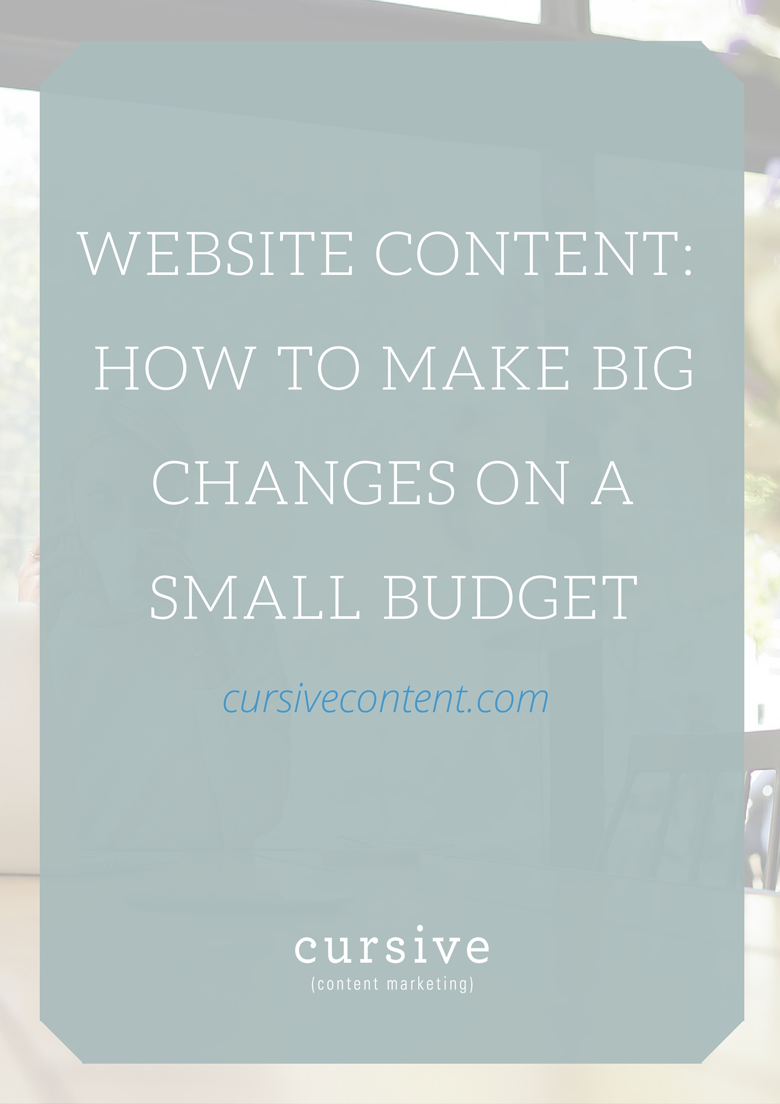 How to create website content