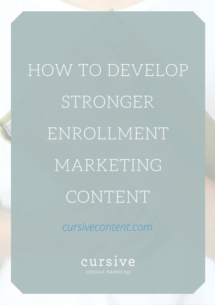 There are four big factors that influence a student's decision to enroll at a college or university. Learn how to use them to craft smarter, stronger enrollment marketing content.
