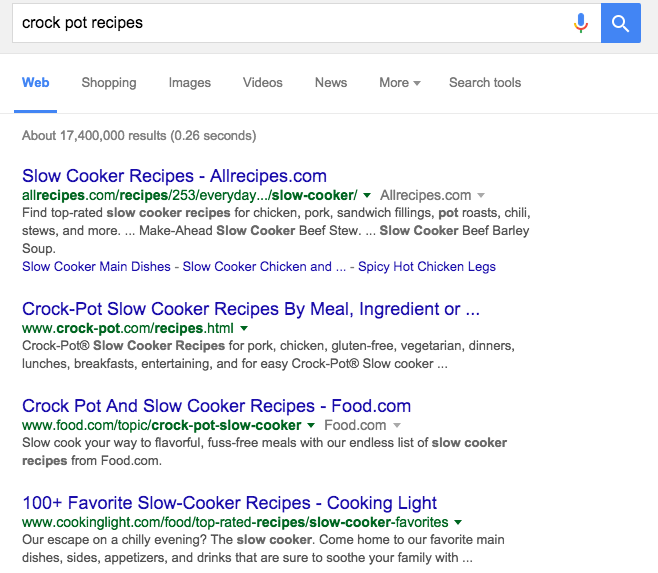 Meta Description in Search