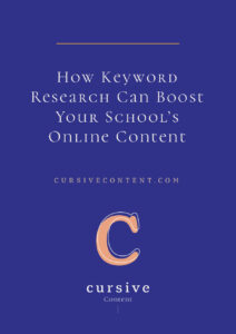 How Keyword Research Can Boost Your School's Online Content
