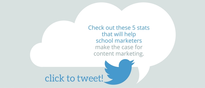Check out these 5 stats that will help school marketers make the case for content marketing.