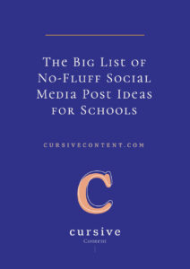 The Big List of No-Fluff Social Media Post Ideas for Schools