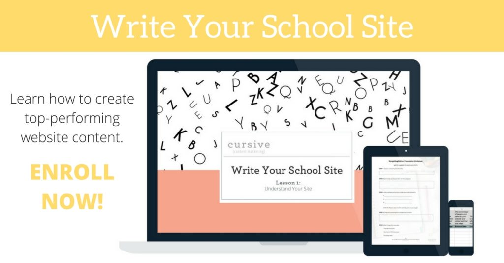 Write Your School Site