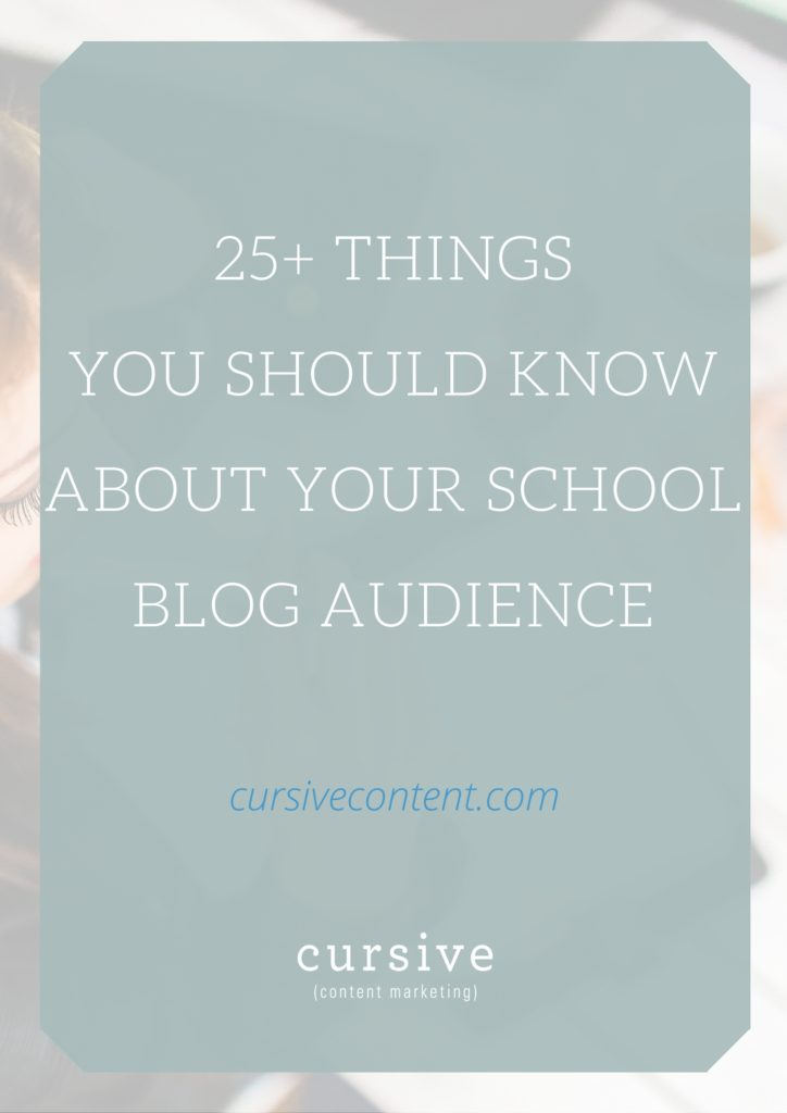 25+ Things You Should Know About Your School Blog Audience